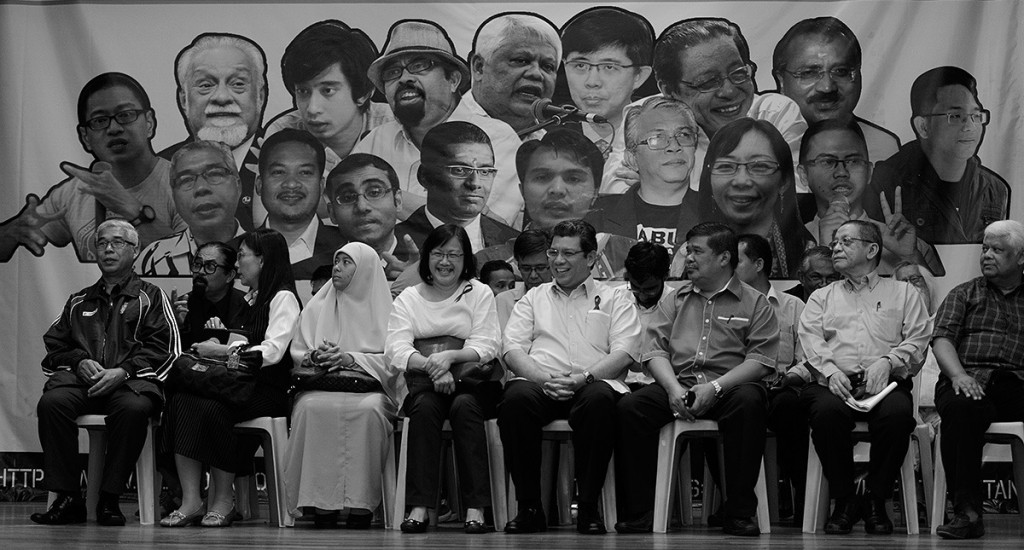 during the launch of Gerakan Hapus Akta Hasutan (GHAH) in conjunction with international day of Democracy at Kuala Lumpur and Selangor Chinese Assembly Hall in Kuala Lumpur on September 15, 2014. The Malaysian Insider/Najjua Zulkefli