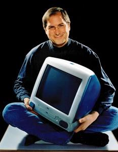 Der echte Jobs mit seinem iMac-Baby